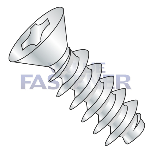Star Drive 82 Degree Flat Head #2-28 Thread Size Zinc Plated 1//2 Length Steel Thread Rolling Screw for Plastic Pack of 100