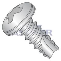 4-24X1/2  Phillips Pan Thread Cutting Screw Type 25 Fully Threaded 410 Stainless Steel