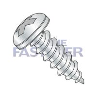 6-20X1/4  Phillips Pan Self Tapping Screw Type A B Fully Threaded Zinc And Bake