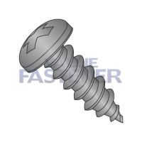 4-24X1/4  Phillips Pan Self Tapping Screw Type A B Fully Threaded Black Zinc And Bake