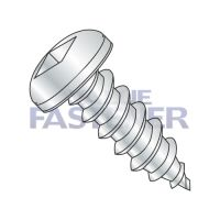 10-16X2  Square Drive Pan Self Tapping Screw Type A B Fully Threaded Zinc And Bake