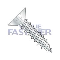 8-15X1/2  Phillip Flat Undercut Self Tapping Screw Type A Fully Threaded Zinc And Bake