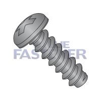 8-18X1/2  Phillips Pan Self Tapping Screw Type B Fully Threaded Black Oxide