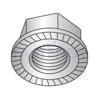 M5-0.8  Din 6923 Metric Hex Flange Nut Serrated A2 18 8 Stainless Steel
