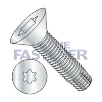 1/4-20X1  Six Lobe Flat Thread Cutting Screw Type F Fully Threaded Zinc And Bake