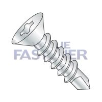 10-16X2 1/2  Phillips Flat Self Drilling Screw Full Thread Zinc and Bake