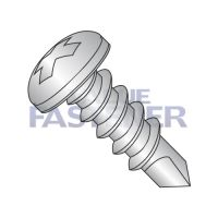 8-18X1  Phillips Pan Full Thread Self Drilling Screw 18-8 Stainless Steel