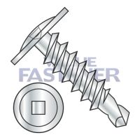 8-18X1/2  Square Drive Modified Truss Head Self Drilling Screw Full Thread Zinc and Bake
