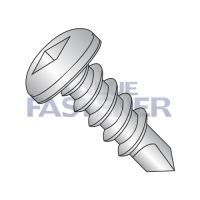 8-18X2  Square Pan Self Drilling Screw Full Thread 18-8 Stainless Steel
