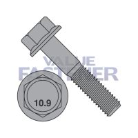 M10-1.5X30  DIN 6921 Class 10.9 Metric Flange Bolt Screw Non Serrated  Plain