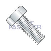 6-32X3/8  Unslotted Indented Hex Head Machine Screw Fully Threaded Zinc