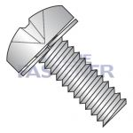 M5-0.8X12  ISO 7045 Phil Pan 304SS Split Washer Sems Machine Screw Full Thread A2 Stainless