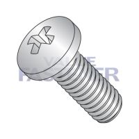 6-32X1/2  Phillips Pan Machine Screw Fully Threaded 18 8 Stainless Steel