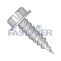 "8-15X1 1/4  Slot Ind Hexwasher 1/4"" Across Flats F/T Self Piercing Screw 410 Stainless Steel"