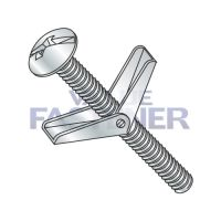 1/4X3  Combination Mushroom Head Toggle Bolt Zinc