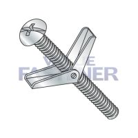 3/16X6  Combination Round Head Toggle Bolt Zinc