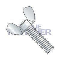 10-24X1 1/4  Light Series Cold Forged Wing Screw Full Thread Type A Zinc